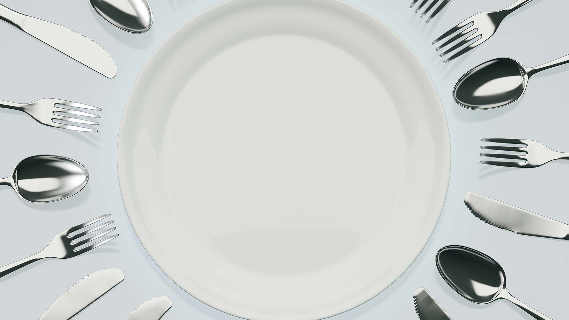 plate with silverware